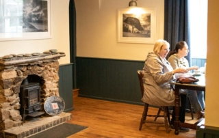 Customer sitting at The Wilcove Inn Cornwall