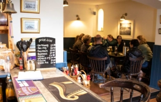 Customers chatting at the The Wilcove Inn Cornwall