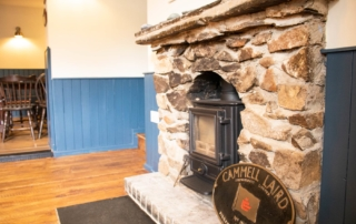 Fireplace at the The Wilcove
